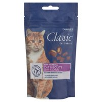 Dunnes Stores Classic Cat Treats Anti Hairball Cat Biscuits with Salmon 65g