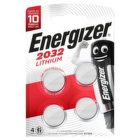 Energizer 2032 Lithium Coin Battery 4 Pack