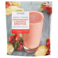 Dunnes Stores Freshly Frozen Strawberry & Banana Smoothie 500g