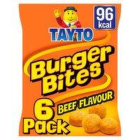 Tayto Burger Bites Multipack Snacks 6 Pack 120g