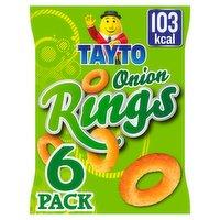 Tayto Onion Rings Multipack Snacks 6 Pack 120g