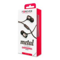 Stereo earphones in black with Microphone