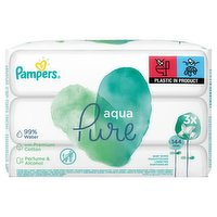 Pampers Baby Wipes Aqua Pure 3 Packs = 144 Baby Wet Wipes
