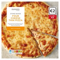 Dunnes Stores Stone Baked Four Cheese Thin Pizza 322g