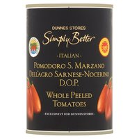 Dunnes Stores Simply Better Italian Whole Peeled Tomatoes 400g