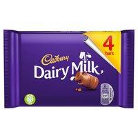 Cadbury Dairy Milk Chocolate Bar 4 Pack 117.2g