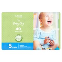 Dunnes Stores Baby-Dry 5 11-16kg 40 Nappies