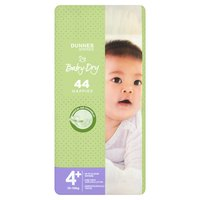 Dunnes Stores Baby-Dry 44 Nappies  Size 4+, 10-15kg