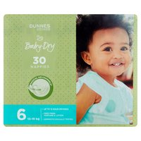 Dunnes Stores Baby-Dry 6 13-18kg 30 Nappies