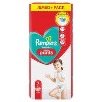 Pampers Baby-Dry Nappy Pants Size 7, 48 Nappies, 17kg+, Jumbo+ Pack
