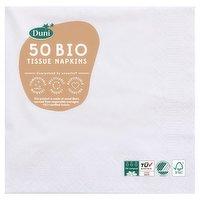 Duni 50 Bio Tissue Napkins 3 Ply 33cm