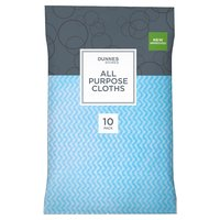 Dunnes Stores 10 All Purpose Cloths