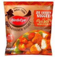 Birds Eye 24 Chicken Nuggets with Golden Wholegrain 379g