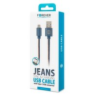 FOREVER TYPE C CABLE in Denim