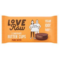 Love Raw 2 Chocolate Butter Cups Peanut Butter 34g