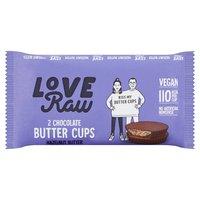 Love Raw 2 Chocolate Butter Cups Hazelnut Butter 34g