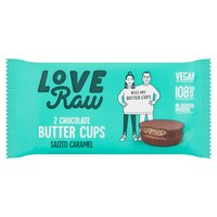 Love Raw 2 Chocolate Butter Cups Salted Caramel 34g