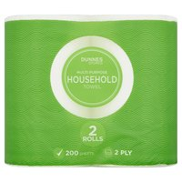 Dunnes Stores Multi Purpose Household Towel 2 Ply 2 Rolls