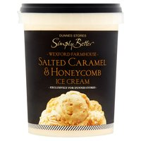 Dunnes Stores Simply Better Wexford Farmhouse Salted Caramel & Honeycomb Ice Cream 500ml