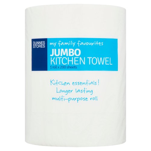 <b>Features</b><br/>Kitchen essentials!<br/>Longer lasting multi-purpose rolls<br/><br/><b>Recycling Info</b><br/>Card - Widely Recycled<br/>Film - Check Locally<br/><br/><b>Safety Warning</b><br/>CAUTION<br/> - To avoid danger of suffocation keep this wrapper out of reach of babies and children.<br/> - Do not flush down the toilet.<br/><br/><b>Storage Type</b><br/>Ambient<br/><br/>Country of Origin - United Kingdom<br/>Packed In - United Kingdom<br/><br/><b>Origin</b><br/>Produced and packed in the U.K.<br/><br/><b>Company Name</b><br/>Dunnes Stores / Dunnes Stores (Bangor) Ltd.<br/><br/><b>Company Address</b><br/>Dunnes Stores,<br/> 46-50 South Great George's Street,<br/> Dublin 2.<br/> <br/> Dunnes Stores (Bangor) Ltd.,<br/> 28 Hill Street,<br/> Newry,<br/> Co. Down,<br/> BT34 1AR.<br/><br/><b>Return To</b><br/>Quality Guarantee<br/> Dunnes Stores is a brand of quality and better value since 1944. If you try and are not entirely satisfied with this Dunnes Stores product, please return the item with the original packaging and receipt to the store and we will be happy to replace or refund it for you.<br/> Dunnes Stores,<br/> 46-50 South Great George's Street,<br/> Dublin 2.<br/> <br/> Dunnes Stores (Bangor) Ltd.,<br/> 28 Hill Street,<br/> Newry,<br/> Co. Down,<br/> BT34 1AR.<br/><br/>