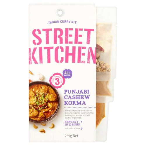 A mild curry sauce famous for its distinctive cashew nut creaminess and fragrant aromas.<br/><br/><b>Features</b><br/>All natural<br/>Three simple steps<br/>Just add meat or vegetables<br/>Serves 3 - 4 in 20 mins<br/>Just a hint of spice<br/>Chilli rating - 1<br/>All great with beef, seafood or vegetables<br/>Suitable for vegetarians<br/><br/><b>Lifestyle</b><br/>Suitable for Vegetarians<br/><br/><b>Pack Size</b><br/>255g ℮<br/><br/><b>Allergy Advice</b><br/>Almonds - Contains<br/>Cashew Nuts - Contains<br/>Tree Nuts - Contains<br/>Milk - Contains<br/>Gluten - May Contain<br/><br/><b>Ingredients</b><br/>Water<br/>Onion<br/>Ginger<br/>Garlic<br/>Spices<br/>Vinegar<br/><span style='font-weight: bold;'><span style='font-weight: bold;'>Cashew</span> Meal</span> (3%)<br/>Desiccated Coconut<br/>Sunflower Oil<br/>Salt<br/>Natural Flavour<br/>Tomatoes<br/>Sugar<br/>Cream Powder (<span style='font-weight: bold;'>Milk</span>)<br/>Corn Starch<br/><span style='font-weight: bold;'><span style='font-weight: bold;'>Almond</span> Meal</span><br/>Food Acid (Citric)<br/>Vegetable Gum (Xanthan)<br/><br/><b>Allergy Advice</b><br/>For allergens, see ingredients in <span style='font-weight: bold;'>bold</span><br/><br/><br/><b>Allergy Text</b><br/><span style='font-weight: bold;'>Contains Milk & Tree NutsMay contain Gluten</span><br/><br/><br/><b>Storage Type</b><br/>Ambient<br/><br/><b>Storage</b><br/>Store unopened in a cool dry location<br/><br/><b>Company Name</b><br/>Worldwide Food Associates / Rodrigo Trading<br/><br/><b>Company Address</b><br/>Worldwide Food Associates,<br/> Unit 5A Dovecote Court,<br/> Stanley Grange Business Village,<br/> Merseyside,<br/> L34 4AR.<br/> <br/> Rodrigo Trading,<br/> Kanturk,<br/> P51 W0Y3,<br/> Co. Cork,<br/> Ireland.<br/><br/><b>Telephone Helpline</b><br/>UK: +44 0151 214 3075<br/>IRL: 00353-868726155<br/><br/><b>Web Address</b><br/>www.wwfa.co.uk<br/>www.rodrigosfinefoods.com<br/><br/><b>Return To</b><br/>Worldwide Food Associates,<br/> Unit 5A Do