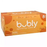 Bubly Mango Sparkling Water, Cans (Pack of 8), 12 Ounce