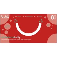 Bubly Strawberry Sparkling Water, Cans (Pack of 8), 12 Ounce