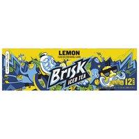 Brisk Lemon Iced Tea, Cans (Pack of 12), 12 Ounce
