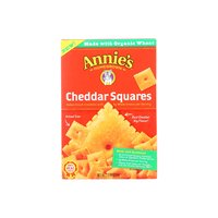 Annie's Cheddar Crackers, Squares, 1 Ounce