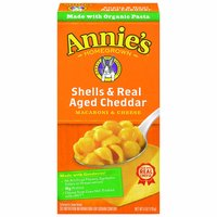 Annie's Macaroni & Cheese, Shells & Real Aged Cheddar, 6 Ounce