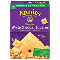 Annie's Organic Baked Snack Squares, White Cheddar, 7.5 Ounce