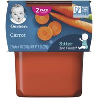 Gerber 2nd Foods, Carrots (Pack of 2), 4 Ounce