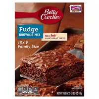 Betty Crocker Fudge Brownie Mix, Family Size, 18.3 Ounce