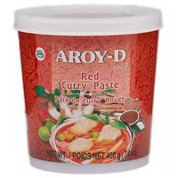 Aroy D Red Curry Paste, 14 Ounce