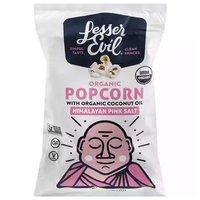 Lesser Evil Organic Popcorn, Himalayan Pink Salt with Organic Coconut Oil, 5 Ounce