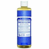 Dr. Bronner's Liquid Soap, Pure-Castile Peppermint, 16 Ounce