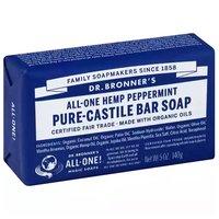 Dr. Bronner's Bar Soap, Pure-Castile Peppermint, 5 Ounce