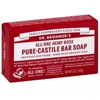 Dr. Bronner's Bar Soap, Rose, 5 Ounce