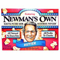 Newman's Own Butter Microwave Popcorn (Pack of 3), 10.5 Ounce