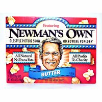 Newman's Own Light Butter Microwave Popcorn (Pack of 3), 10.5 Ounce