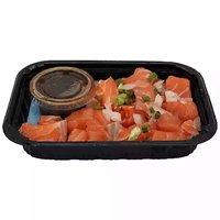 Grab N Go Platter, Salmon Sashimi with Sauce, 1 Pound