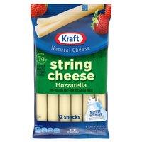 Kraft Mozzarella String Cheese, 12 Ounce