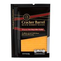 Cracker Barrel Wisconsin Extra Cheddar Slices, 8 Ounce