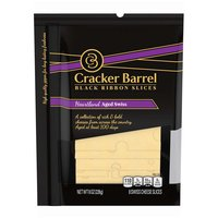 Cracker Barrel Heartland Aged Swiss Cheese Slices, 8 Ounce