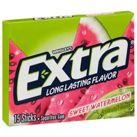 Extra Long Lasting Gum, Sweet Watermelon, Sugarfree , 15 Each