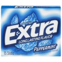 Extra Peppermint Gum, Slim Pack, 15 Each