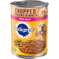 Pedigree Chopped Ground Dinner with Beef Dog Food, 13.2 Ounce