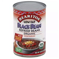 Bearitos Black Refried Beans, 16 Ounce