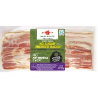 Applegate Naturals Uncured Bacon, Hickory Smoked, No Sugar, 8 Ounce