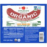 Applegate Organic Beef Hot Dog, Uncured, 10 Ounce